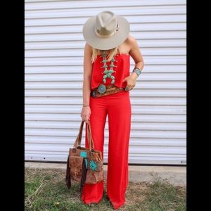 Other - Red sleeveless jumper, jumpsuit